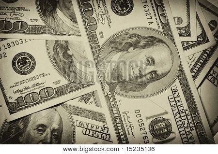 one hundred dollars, money, cash, heap, usa