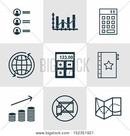 Set Of 9 Universal Editable Icons For Project Management, Education And Human Resources Topics. Incl