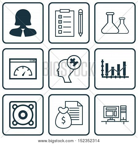 Set Of 9 Universal Editable Icons For Education, Marketing And Human Resources Topics. Includes Icon