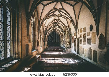 Augsburg, Germany - September 08, 2016: Crypt of the Saint Ulrich church in Augsburg
