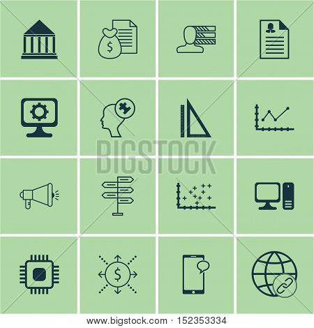 Set Of 16 Universal Editable Icons For Business Management, Human Resources And Project Management T