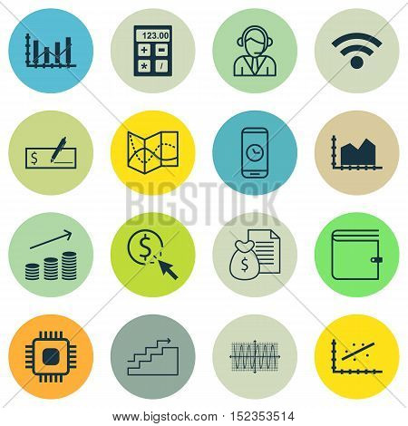 Set Of 16 Universal Editable Icons For Education, Marketing And Statistics Topics. Includes Icons Su