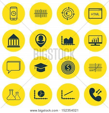 Set Of 16 Universal Editable Icons For Education, Marketing And Human Resources Topics. Includes Ico