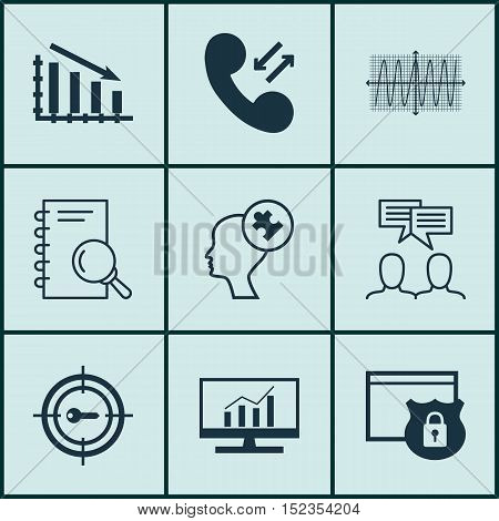 Set Of 9 Universal Editable Icons For Advertising, Project Management And Business Management Topics