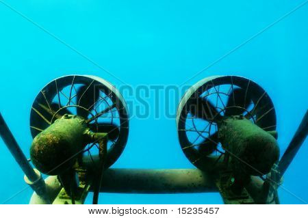 propellers of submarine