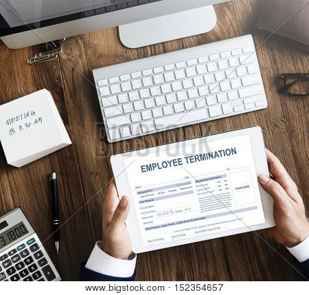 Employee Termination Form Contract Concept