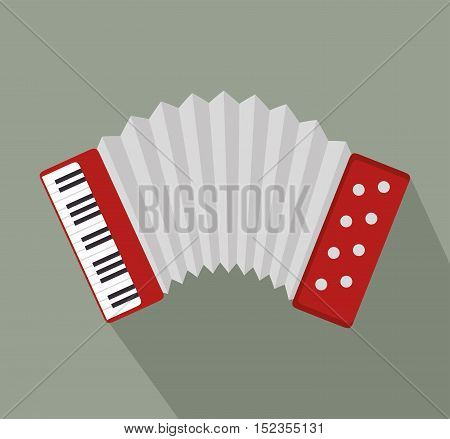 accordion music instrument design vector illustration eps 10