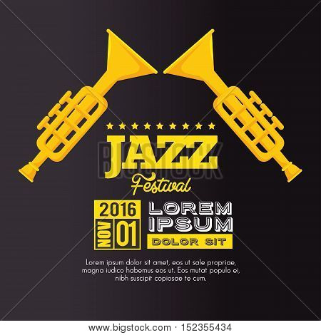 trumpets festival jazz music design vector illustration eps 10