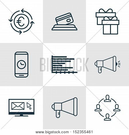 Set Of 9 Universal Editable Icons For Project Management, Travel And Statistics Topics. Includes Ico