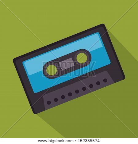 cassette record music sound design vector illustration eps 10