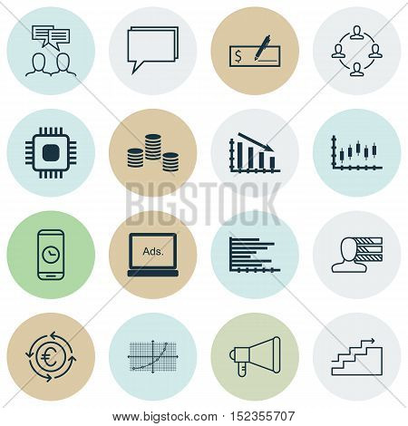 Set Of 16 Universal Editable Icons For Travel, Computer Hardware And Advertising Topics. Includes Ic