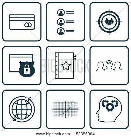 Set Of 9 Universal Editable Icons For Marketing, Seo And Project Management Topics. Includes Icons S