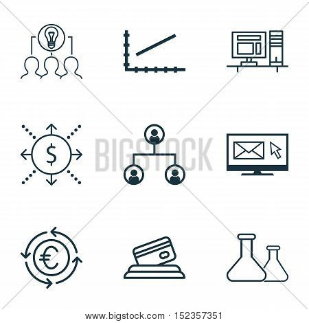 Set Of 9 Universal Editable Icons For Seo, Education And Airport Topics. Includes Icons Such As Mone
