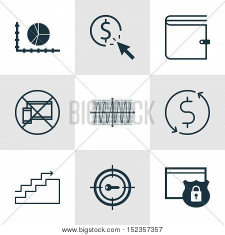Set Of 9 Universal Editable Icons For Statistics, Advertising And Human Resources Topics. Includes I