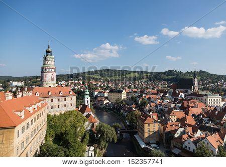 Renaissance 16th century castle from the Rozmberk family Cesky Krumlov Czech Republic