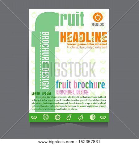 vector fruit Brochure leaflet design on background