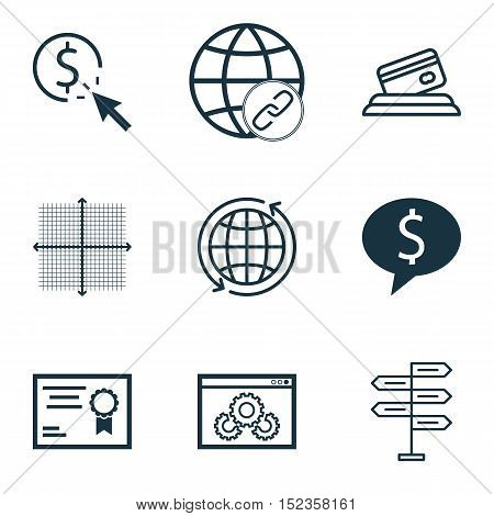 Set Of 9 Universal Editable Icons For Advertising, Education And Statistics Topics. Includes Icons S