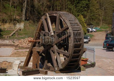 Old Water Wheel In Germany