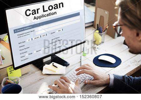 Car Loan Finance Application Money Concept