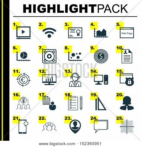 Set Of 25 Universal Editable Icons For Seo, Human Resources And Marketing Topics. Includes Icons Suc