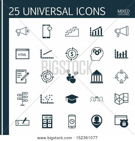 Set Of 25 Universal Editable Icons For Airport, Human Resources And Project Management Topics. Inclu