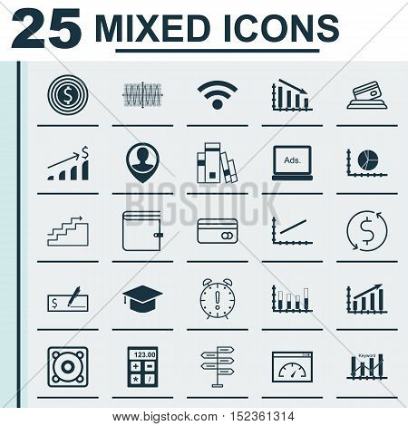 Set Of 25 Universal Editable Icons For Airport, Education And Human Resources Topics. Includes Icons