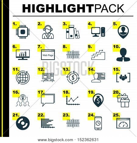 Set Of 25 Universal Editable Icons For Seo, Advertising And Project Management Topics. Includes Icon