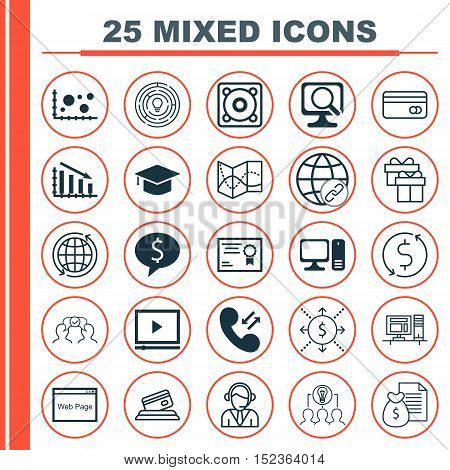 Set Of 25 Universal Editable Icons For Advertising, Human Resources And Business Management Topics.