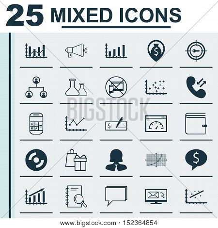 Set Of 25 Universal Editable Icons For Education, Airport And Marketing Topics. Includes Icons Such