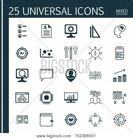 Set Of 25 Universal Editable Icons For Advertising, Education And Human Resources Topics. Includes I