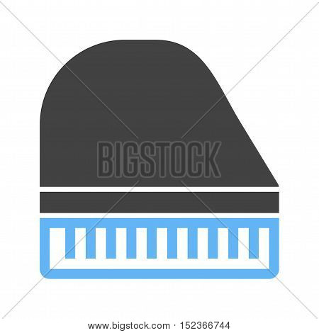 Piano, keys, music icon vector image.Can also be used for wild west. Suitable for mobile apps, web apps and print media.