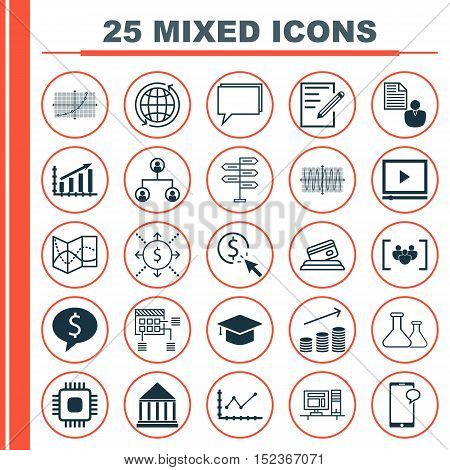 Set Of 25 Universal Editable Icons For Statistics, Airport And Human Resources Topics. Includes Icon