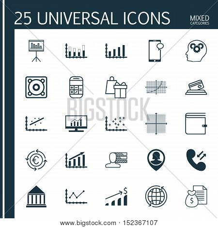 Set Of 25 Universal Editable Icons For Human Resources, Marketing And Computer Hardware Topics. Incl
