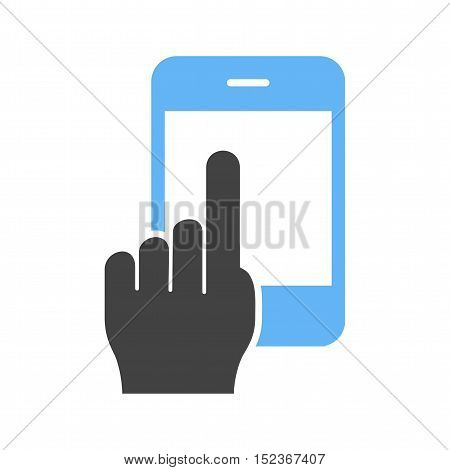 Phone, call, cell icon vector image. Can also be used for hand actions. Suitable for mobile apps, web apps and print media.