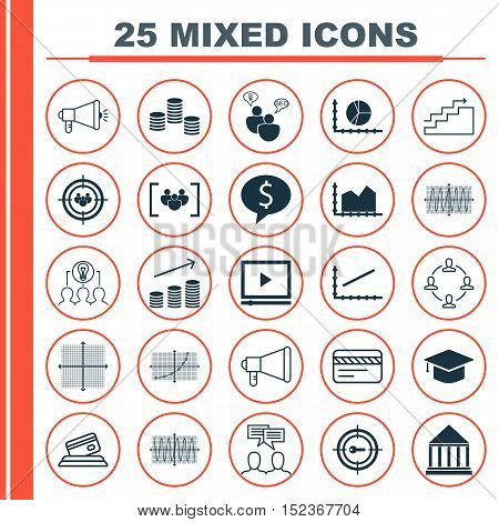 Set Of 25 Universal Editable Icons For Business Management, Human Resources And Airport Topics. Incl
