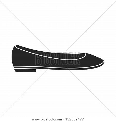 Ballet shoes icon in black style isolated on white background. Shoes symbol vector illustration.