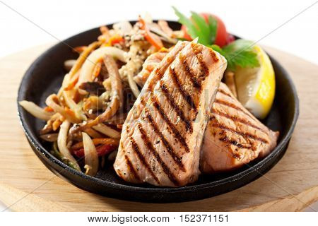 Grilled Salmon with Vegetable