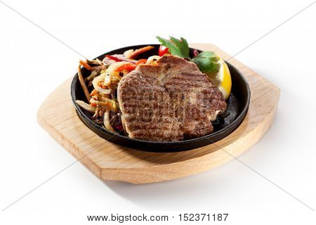 Grilled Pork Chop (Neck Cut) with Pan-Fried Vegetable