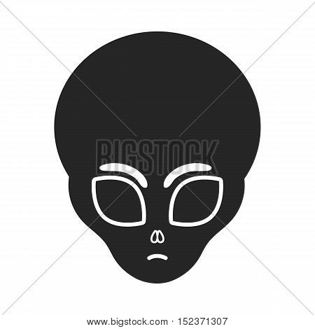 Alien icon in  black style isolated on white background. Space symbol vector illustration.