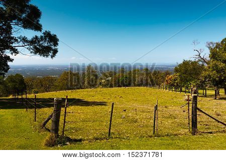 Barbed Wire Fence On The Mountains