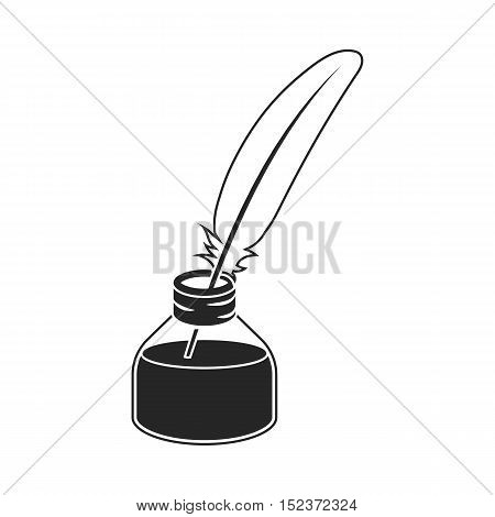 Writing Pen ticket icon in  black style isolated on white background. Theater symbol vector illustration