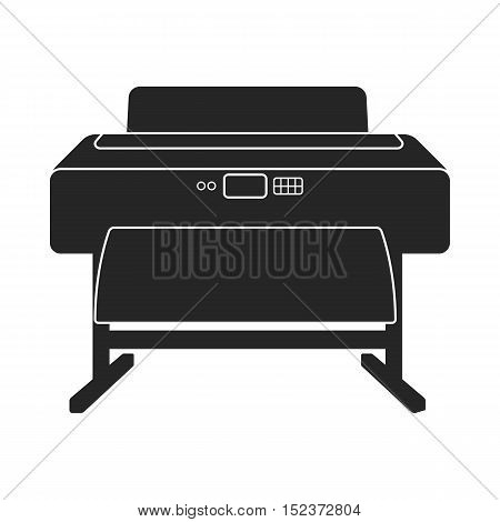 Large format printer icon in  black style isolated on white background. Typography symbol vector illustration.