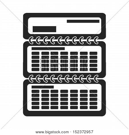 Calendar icon in  black style isolated on white background. Typography symbol vector illustration.