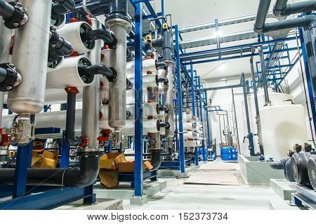 water filter Industrial production of large soft drinks