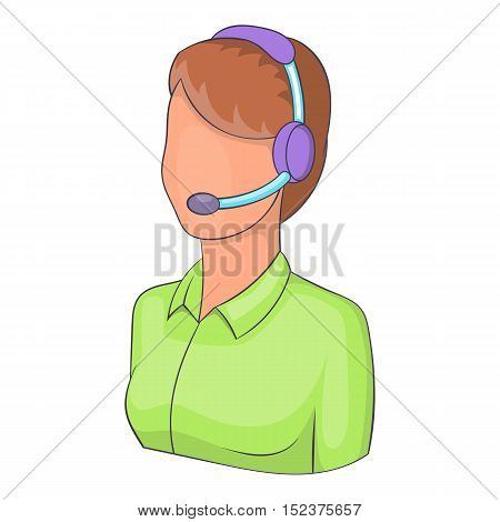 Woman operator icon. Isometric illustration of woman operator vector icon for web