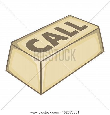 Call button icon. Isometric illustration of call button vector icon for web