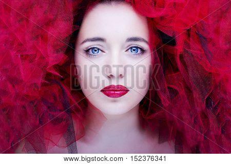 A portrait of beautiful woman. Fashion photo