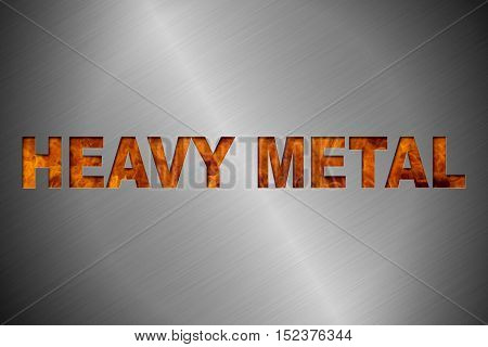 Heavy Metal Themed Background