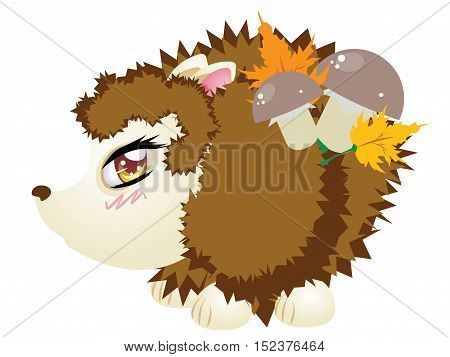 Cute Autumn Hedgehog