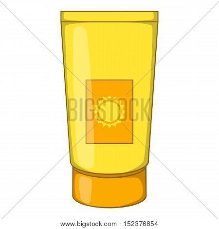Sun lotion icon. Cartoon illustration of sun lotion vector icon for web